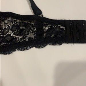 Victoria's Secret Intimates & Sleepwear - Victoria's Secret black and pink lace bra Sz. 34DD
